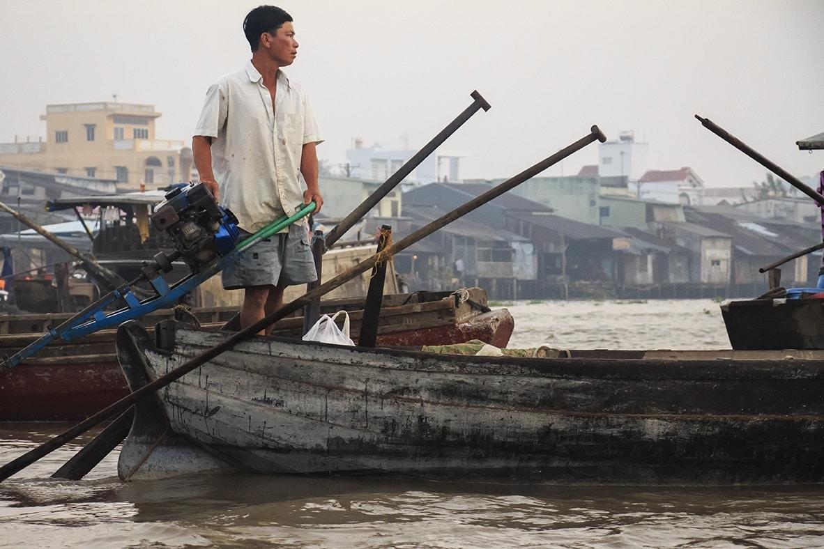 De drijvende markt van Can Tho is voor velen een hoogtepunt in de Mekong Delta