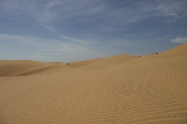 witte zand duinen