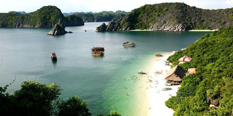 eilanden in Noord Vietnam