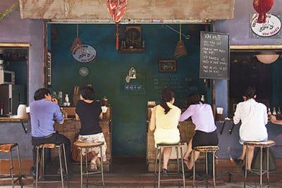 Een Cafe in de oude wijk van Hanoi