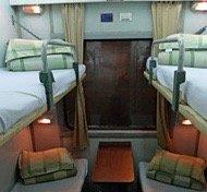 soft sleeper in de vietnamese trein