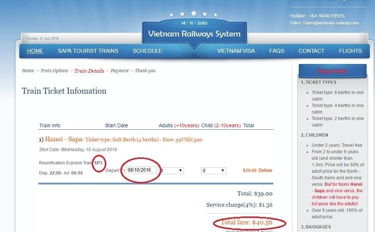 treintickets vietnam online kopen