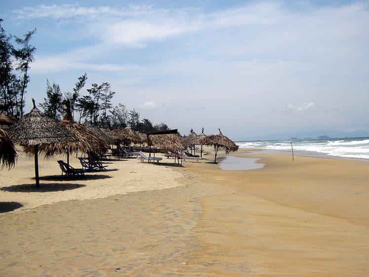 An Bang beach vlakbij de oude stad van Hoi An