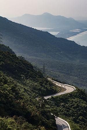 De weg op de hai van pass