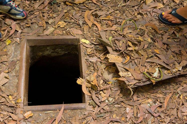 Een ingang van de Cu Chi Tunnels