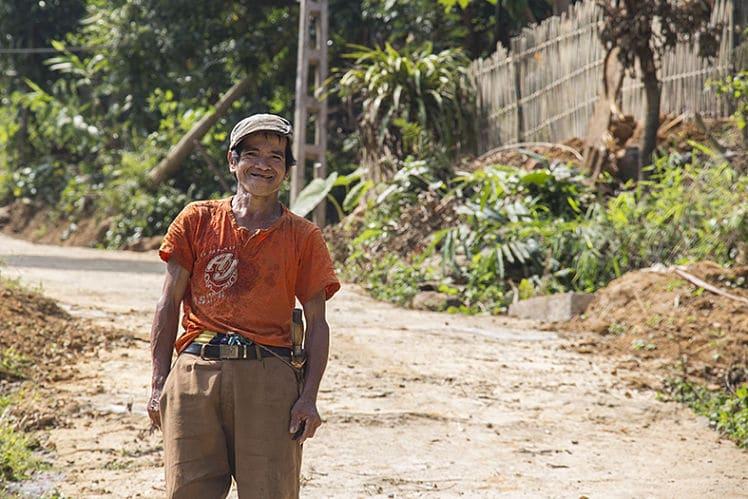vriendelijke locals in Pu Luong National Park