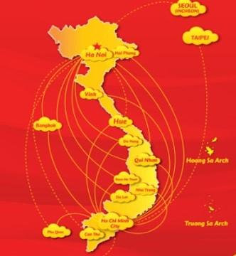 Het aanbod aan vluchten met Vietjet