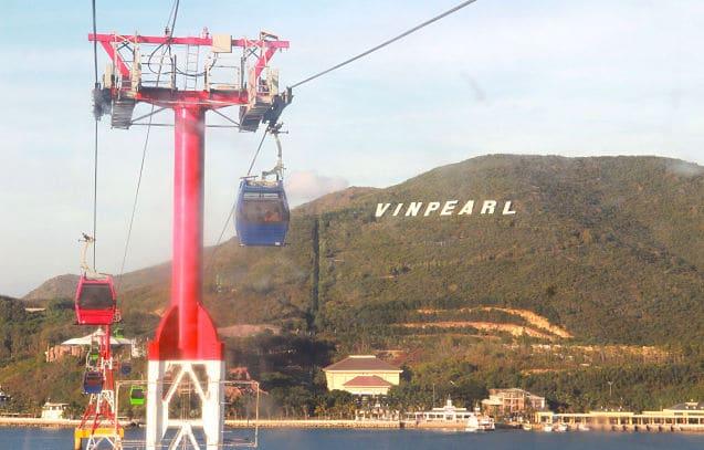 De kabelbaan naar Vinpearl Island