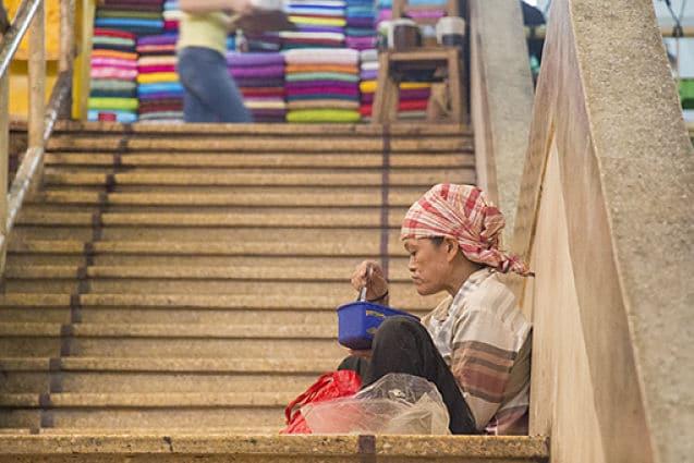 De Dong Xuan Markt in Hanoi