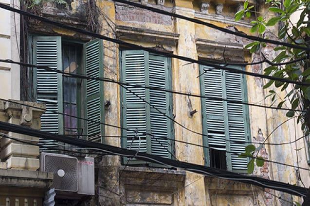 de oude wijk van hanoi