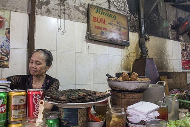 Een kraampje met de lekkerste Bun Cha