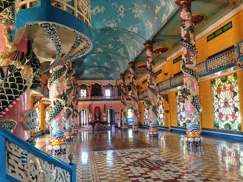 cao dai tempel interieur