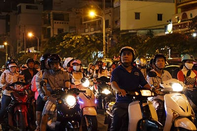 De avondspits in Saigon