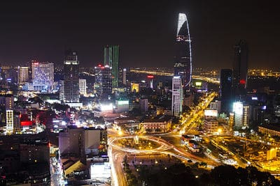 een skybar in Ho Chi Minh Stad