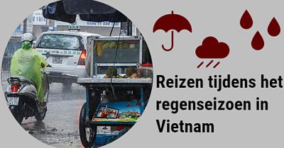 Het regenseizoen in Vietnam