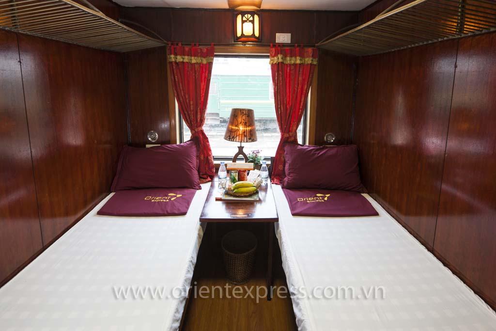 De luxe orient express van Hanoi naar Sapa
