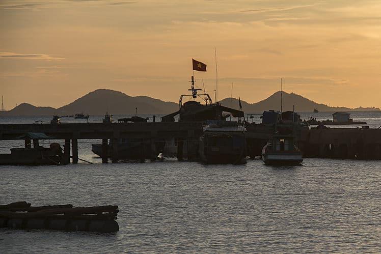 zonsopkomst in Kien Giang