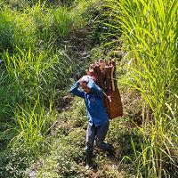 locals in het natuurreservaat