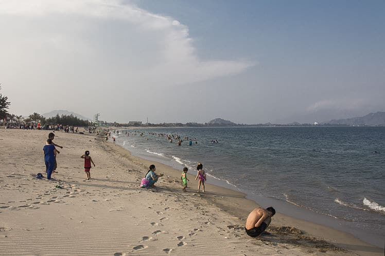 het strand in Phan Rang