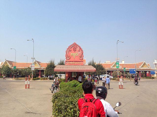 De Cambodjaanse kant van de grens met Vietnam
