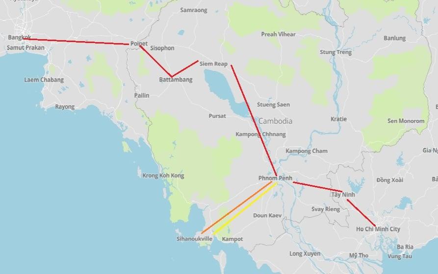 Van Bangkok naar Vietnam