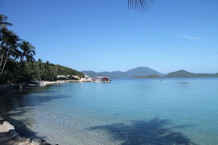 De zee op Palmeneiland