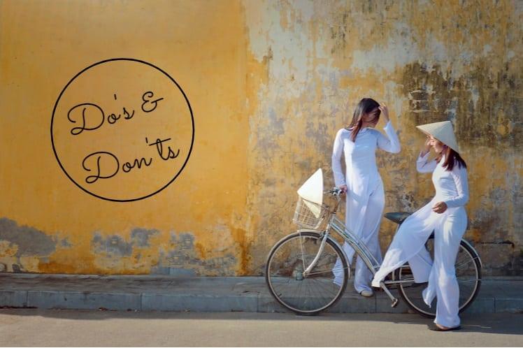 Do's en Don'ts binnen de Vietnamese cultuur